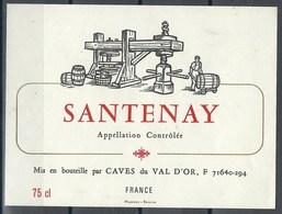 Etiquette De Vin De France * Santenay * - Etiquettes