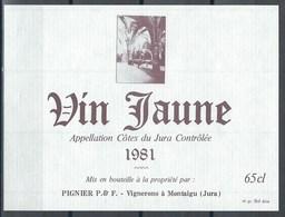 Etiquette De Vin De France * Vin Jaune * - Etiquettes