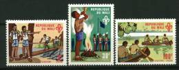 Rep. Mali** N° 147 à 149 - Scoutisme - Mali (1959-...)