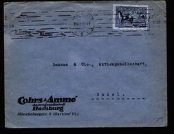 A6111) DR Infla Brief Hamburg 19.10.22 N. Basel / Schweiz M. EF Mi.196 - Briefe U. Dokumente