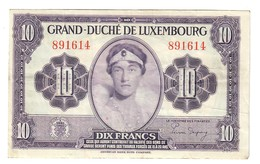 Luxembourg 10 Francs 1944 Bb Lotto 1191 - Luxembourg