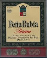 Etiquette De Vin D' Espagne  * Pena Rubia * - Etiquettes