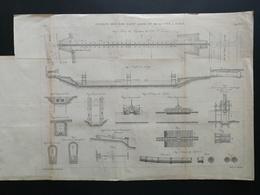 ANNALES PONTS Et CHAUSSEES (Dep 97) - Plan Des Siphons Des Iles Saint Louis - Graveur Macquet 1891 (CLC01) - Cartes Marines