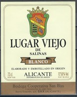 Etiquette De Vin D' Espagne  * Lugar Viejo De Salinas * - Etiquettes