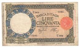 Italy 50 Lire Lupa 21/11/1942 Officina L'Aquila - 50 Lire