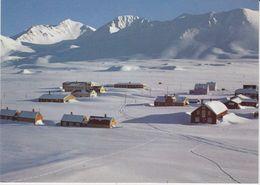 Spitsbergen / Svalbard Ny Alesund / Mount Zeppelineren In The Background Postcard Unused (42354) - Noorwegen