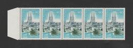 FRANCE / 1966 / Y&T N° 1485 ** : Niort X 5 En Bande Dont 1 BdF D - Gomme D'origine Intacte - Unused Stamps