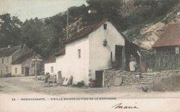 Remouchamps - Vieille Maison Au Pied De La Montagne - Petite Animation - Vue Colorisée - 2 Scans - Aywaille