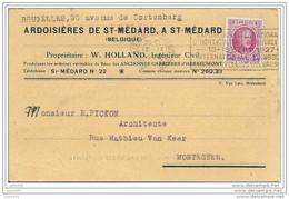 SAINT - MEDARD ..--  ARDOISIERES . 1927 Vers MONTEGNEE . Carte De Commande .  Voir Verso . - Herbeumont