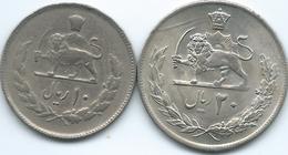 Iran - MS2535 (1976) - 10 Rials (KM1208) & 20 Rials (KM1209) - 50th Anniversary Of Pahlavi Rule - Iran