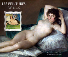 CENTRAL AFRICA 2019 - Nudes, Picasso S/S Official Issue - Picasso