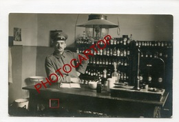 PHARMACIEN Militaire-Medicaments-Medecine-CARTE PHOTO Allemande-Guerre 14-18-1WK-Militaria- - War 1914-18