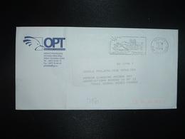 LETTRE OBL.MEC.2-7 2008 NOUMEA NLLE CALEDONIE + OPT SERVICE PHILATELIQUE NOUMEA PRINCIPALE - Neukaledonien