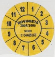 Romania - Auto Vignette - Car Vignette For 12 Months Period - Adhesive Sticker - Vignette - 2005/2006 - Unused - Transportation Tickets