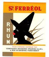 Etiquette Chromo Pour Rhum St. Ferréol, Thèmes: Rhum, Esclave (?) - Rhum