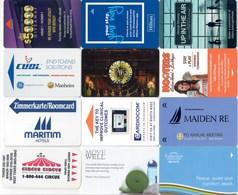 12 Different Cards 5---   Key Card, Room Key, SchLusselkarte, - Hotelkarten