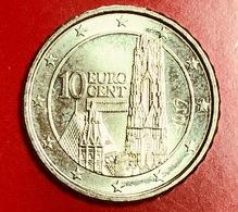AUSTRIA - 2017 - Moneta - Cattedrale Di Santo Stefano Di Vienna - Euro - 0.10 - Austria