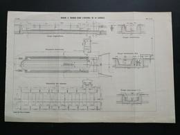 ANNALES PONTS Et CHAUSSEES (Espagne) - Plan Du Bassin A Radoub Dans L'arsenal De La Carraca - 1904 (CLC12) - Nautical Charts