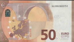 """50 EURO ITALIA  SE  S002  Ch. """"00""""  - DRAGHI   UNC - 50 Euro"""
