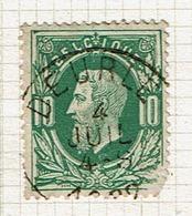 30  Obl  Sc  Deurle  + 15  Défaut - 1869-1883 Leopold II