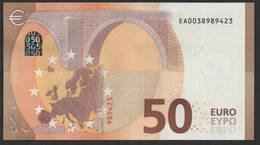 "50 EURO FRANCE  EA E001 ""03"" - DRAGHI   UNC - 50 Euro"