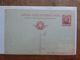 UFFICI POSTALI ALL'ESTERO - TRIPOLI DI BARBERIA 1910 - Cartolina Postale Con Risposta Pagata Nuova + Spedizione Priorit. - 11. Uffici Postali All'estero