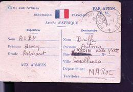 Carte Armée D'afrique Annonçant La Mort D'un Camarade - 1939-45