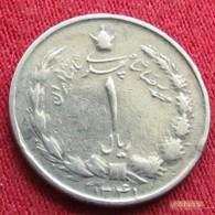 Iran 1 Rial 1962  / SH 1341 KM# 1171a  Lt 272  Irão Persia Persien - Iran