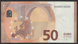 "50 EURO FRANCE  UD U001 ""00"" - DRAGHI   UNC - 50 Euro"
