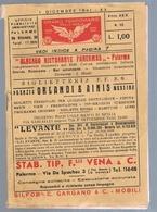 B3320 -Sicilia, Orario Ferroviario Della Sicilia 1941 - Europe