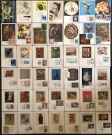 France Cartes Maximum - Lot De 42 Cartes Maximum - Thématique Art Peinture Musée Etc - Cartas Máxima