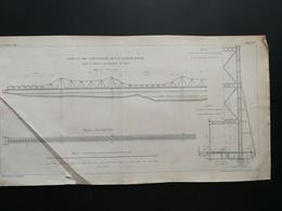 ANNALES PONTS Et CHAUSSEES (Chine) - Plan Du Pont De 1680m Sur Le Fleuve Rouge - Imp.L Courtier - 1898 (CLC14) - Public Works