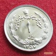Iran 1 Rial 1978  / SH 1357 KM# 1172  Lt 258  Irão Persia Persien - Iran