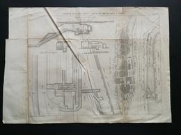 ANNALES PONTS Et CHAUSSEES (Dep 97) - Plan Des Siphons Des Iles Saint Louis - Graveur Macquet 1891 (CLC17) - Cartes Marines