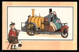 "TINTIN / Chromo ""Voir Et Savoir"" Par Hergé : Automobile N° 19 - Edition DARGAUD. - Other"