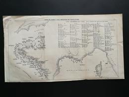ANNALES PONTS Et CHAUSSEES - Plan Des Côtes De France Avec Tours En Mer - Imp.A Gentil (CLC18) - Nautical Charts