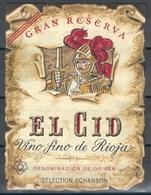 Etiquette De Vin D' Espagne  * El Cid * - Etiquettes