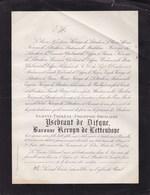 BIOUL Juliette YSEBRANT De DIFQUE Baronne KERVYN De LETTENHOVE 1853-1881 - Décès