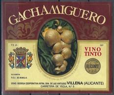 Etiquette De Vin D' Espagne  * Gachamiguero * - Etiquettes