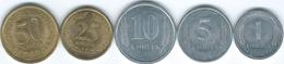 Transnistria - 2000 - 1, 5, 10 & 50 Kopeek (KM1-4); 2002 - 25 Kopeek (KM5) - Moldova