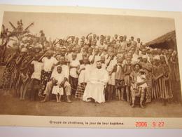 C.P.A.- Afrique - Cameroun - Missions Prêtres Sacré Coeur - Chrétiens Jour Baptême - 1950 - SUP (BD64) - Cameroun