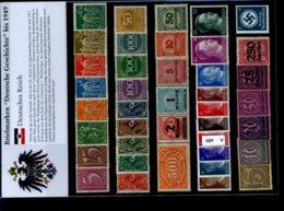 Deutsches Reich Kleine Sammlung (40 Marken Postfrisch) - Germany