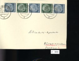 Deutsches Reich, Briefstück Aus Gebrauchspost Mit Zusammendruck: S 215, S 216 - Se-Tenant