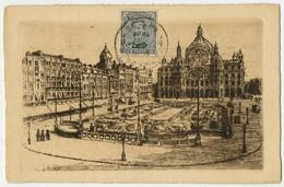 Anvers - Gare Centrale, Eau-forte Originale, F. Draeger & Cie, Editions D'Art, Bxl [375] - Antwerpen