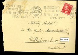 DR, Böhmen Und Mähren, Brief Mit Mi 96 - Briefe U. Dokumente