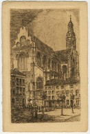 Anvers - Eglise St. Paul, Eau-forte Originale, F. Draeger & Cie, Editions D'Art, Bxl [375] - Antwerpen