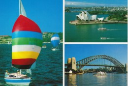 Yachting, Bridge, Opera House, Sydney, New South Wales - Prepaid, Unused With Label - Sydney