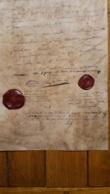 DOCUMENT FAC SIMILE CODICILLE TESTAMENT NAPOLEON  16 AVRIL 1821 AVEC CACHET CIRE - Manuscrits