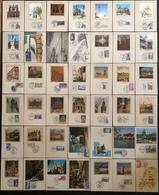 France Cartes Maximum - Lot De 42 Cartes Maximum - Thématique Lieu Monument - Cartas Máxima