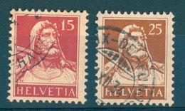 Switzerland - Yvert 201a And 204a (papier Geriffelt) - Schweiz
